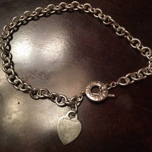 Tiffany & co heart toggle necklace 925